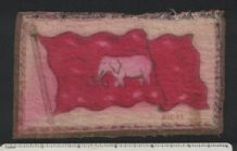 Siam old silk felt flag tobacco cigarette card RARE #841